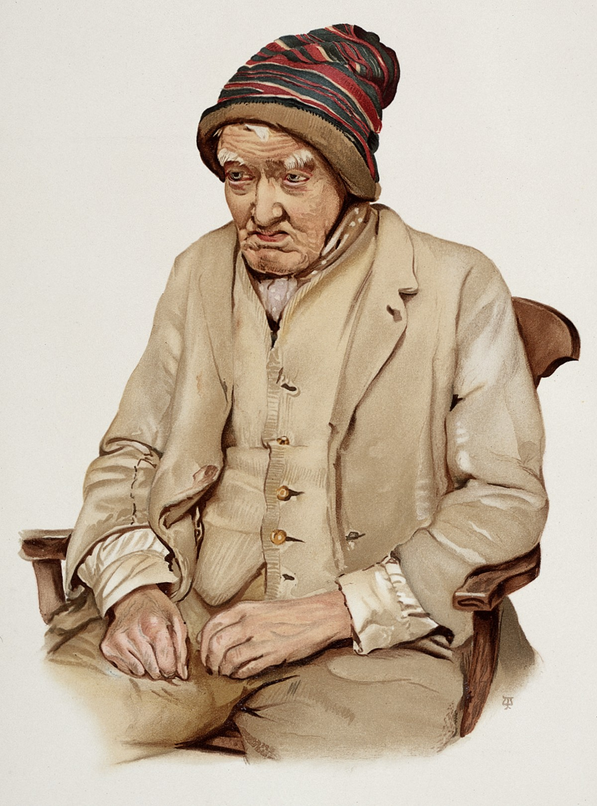 An old man diagnosed as suffering from senile dementia. Colo Wellcome L0026689